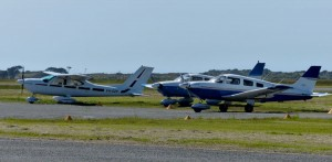 Cardinal DZP parked with Archers ZZW and RCR at King Island.