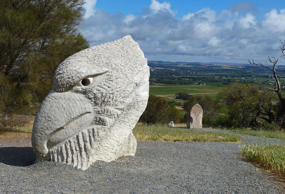 Eagle rock sculpture
